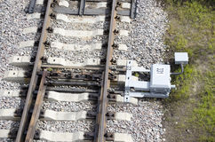 Railway switch. On the road Royalty Free Stock Images