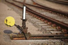 Railway switch - Symbolizes a decision Royalty Free Stock Image