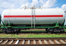 Railway tank with oil Stock Photography