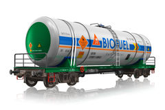 Railway tankcar with biofuel Royalty Free Stock Photography