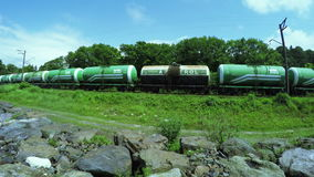 Railway tanks stock video