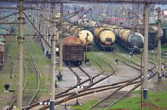 Railway tanks Royalty Free Stock Images