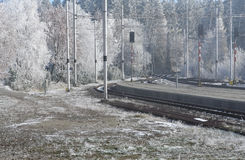 Railway in Tatras Royalty Free Stock Photo