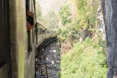 Railway Thailand Bridge over the River Kwai Royalty Free Stock Images