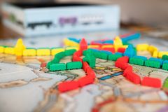 Ticket to ride board game royalty free stock images