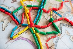Ticket to ride board game royalty free stock image