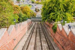 Railway to Buda Castle Royalty Free Stock Image