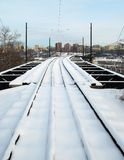 Railway to the city Stock Image