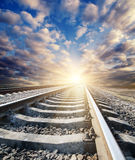 Railway to horizon Stock Images