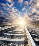 Railway to horizon Stock Images