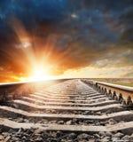 Railway to horizon Royalty Free Stock Photos