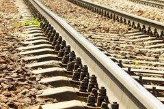 The railway to horizon Stock Images