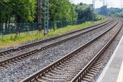 Railway to horizon Royalty Free Stock Images