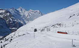 Railway to Jungfraujoch, Switzerland Royalty Free Stock Photography