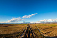 Railway to the mountains Royalty Free Stock Photography