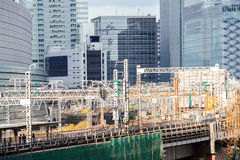 Railway in tokyo Royalty Free Stock Photo