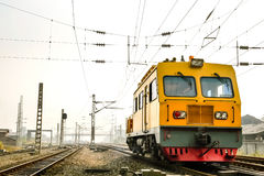 Railway tool car,or maintenance railcar Stock Photos