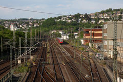 Railway in Town Siegen Stock Image
