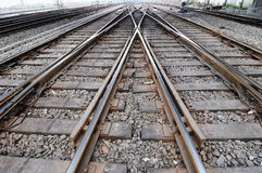 Railway track Stock Images