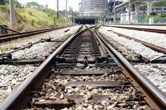 Railway track. An image of a railway track at the transfer junction royalty free stock image