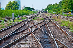 The Railway track Royalty Free Stock Photos