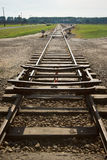 Railway track. Beginning of the railway track, perspective which decreases Royalty Free Stock Image