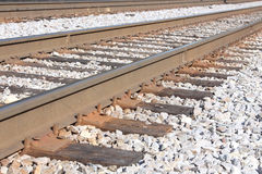 Railway track. Two parallel pieces of steel Stock Photos