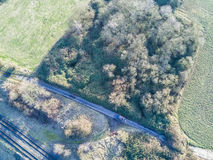 Railway track from above Stock Photo