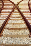 Railway track background Royalty Free Stock Photo