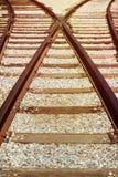 Railway track background Royalty Free Stock Photo