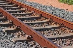 RAILWAY TRACK AT THE COAST. Close image of railway track at the coast Stock Images