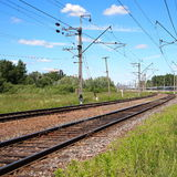 Railway track in countryside Royalty Free Stock Photos