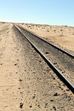 Railway track in the desert Stock Photography