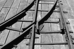 Rail track junction Stock Photography