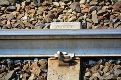 Railway track, detail Stock Photos