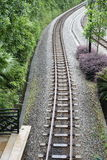 Railway track. Empty and endless railway track Royalty Free Stock Images