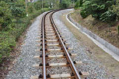 Railway track. Empty and endless railway track Stock Photography