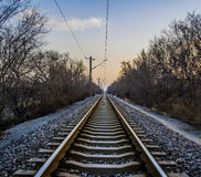 The railway track Royalty Free Stock Images