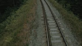 The railway track stock footage
