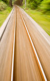 Railway track with high speed motion blur Royalty Free Stock Image