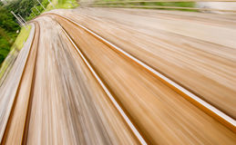 Railway track with high speed motion blur Stock Photography