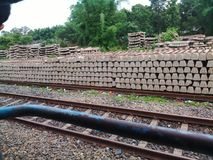 The railway track in india. NER INDIA railway track from assam to other states Royalty Free Stock Photos