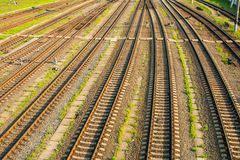 Railway track. Royalty Free Stock Photo