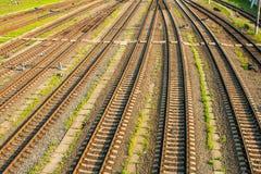 Railway track. Royalty Free Stock Photo