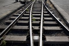 Railway Track Junction Royalty Free Stock Photos