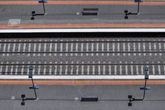 Railway track line Royalty Free Stock Photography