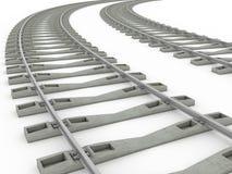 Railway track lines  Raster  Rail 8 Stock Image