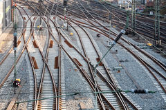 Railway track lines Royalty Free Stock Photography