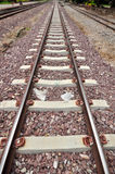 Railway track. A long journey Royalty Free Stock Photo