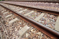 Railway track. A long journey Royalty Free Stock Image